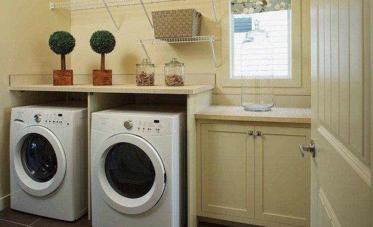 Yellow Laundry Room Transitional Cardel