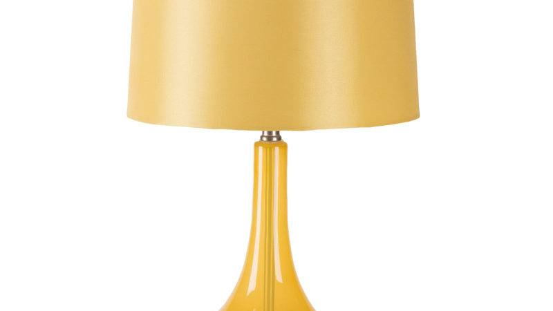 Zoey Yellow Glass Table Lamp Surya Rosenberryrooms